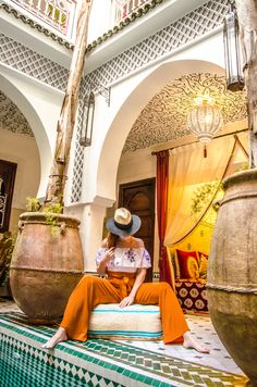 Riads in Marrakech are awesome! Have you every stayed in one? Riads In Marrakech, Outdoor Furniture, Outdoor Decor, Morocco, Awesome, Home Decor, Decoration Home, Room Decor, Home Interior Design