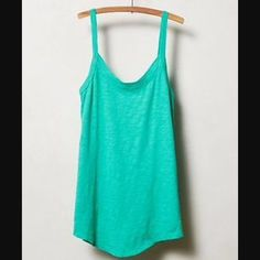 NWOT Anthropologie Tank Brand new || beautiful blue/green || super soft cotton || made by t.la || has extra lace hanging loop by tag Anthropologie Tops Tank Tops