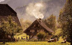 Freilichtmuseum Ballenberg - Born Reisen AG Alpine Chalet, Cabin, Seasons, House Styles, Switzerland, Buildings, Instagram, Chalets, Group Tours