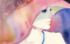 Julie Christie | Cate Parr #watercolor #fashion #illustration