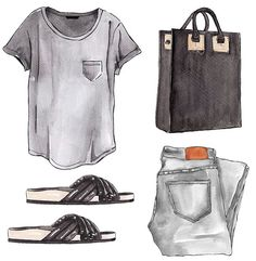 I like the grey jeans, grey shirt look. Maybe I should start wearing this.