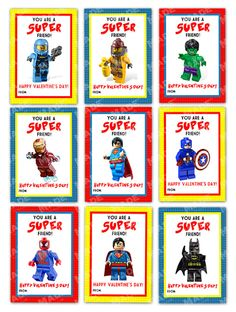 Let your littles say Happy Valentines Day with these SUPER Lego Valentines Day cards. :::: These are professionally printed files that will be