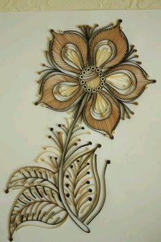 quilled flower. Beautifully done ~!~