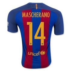Barcelona 16-17 Javier Mascherano 14 Hjemmebanetrøje Kortærmet.  http://www.fodboldsports.com/barcelona-16-17-javier-mascherano-14-hjemmebanetroje-kortermet.  #fodboldtrøjer