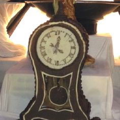 Chocolate clock cake - chocolate banquet on cruise-ship.
