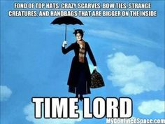 The true identity of Mary Poppins! (Doesn't surprise me any!)