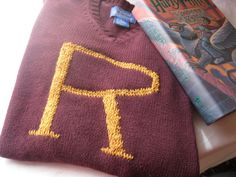 Harry Potter Sweater - Custom Weasley Sweater made just for you - Your initial on a sweater - Monogram on Etsy,
