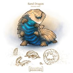 Sand dragons travel in herds and are very social animals. They travel together underneath the sand and only surface to feed. They have an incredibly deep roar that can be felt from miles away which they use to communicate. Monster Concept Art, Fantasy Monster, Monster Art, Monster Hunter, Mythical Creatures Art, Mythological Creatures, Magical Creatures, Creature Concept Art, Creature Design