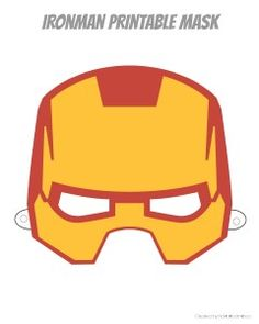 Printable Hero Masks | rickabamboo.com | #superhero #free #costume #ironman