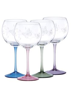 Lenox Glassware, Butterfly Meadow Sets of 4 Collection - Lenox Stemware & Cocktail - Dining & Entertaining - Macy's