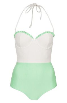 Topshop+Colorblock+One-Piece+Swimsuit+available+at+#Nordstrom