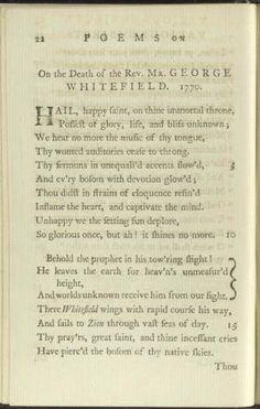 George Washington S Letter To Phillis Wheatley