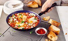 Schakschuka - Gebackene Eier in Paprika-Tomaten-Sugo Rezept   tegut...