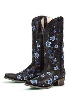 women's blue western boots | Women's Western Boots – Sakura in Blue Ladies Cowboy Boots - Wedding ...