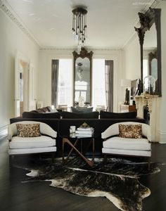 Mixed textures and styles. I like how max use is made of a longer narrower living room.