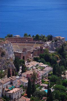 Greek Theatre, Taormina, Sicily, Italy One of our excursions on our cruise ithis year. Places Around The World, Oh The Places You'll Go, Great Places, Places To Travel, Beautiful Places, Places To Visit, Around The Worlds, Amazing Places, Palermo