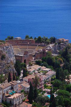 Roman theater, Taormina, Sicily