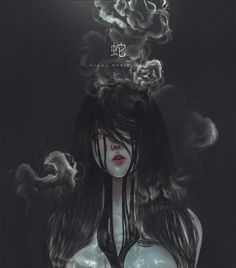 Serpent by on DeviantArt Dark Fantasy Art, Dark Art, Dark Anime Girl, Anime Art Girl, Manga Girl, Gothic Anime Girl, Arte Horror, Horror Art, Aesthetic Anime