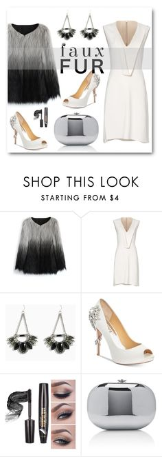 """""""Faux Fur Coat"""" by eileenelizabeth ❤ liked on Polyvore featuring Chicwish, Narciso Rodriguez, Torrid, Badgley Mischka, Jeffrey Levinson, fauxfur, polyvoreeditorial, polyvorecontest and fauxfurcoats"""