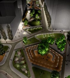 Agias Sofias Competition >Night Perspective 1   by Alex Vandoros