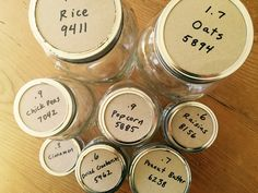 Reusable Bulk Jar Labels for Zero Waste Shopping   the beauty in simple