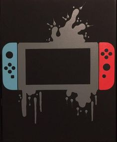 Nintendo Switch Video Game Controller Painting Video Game Art Hand Painted Custom ColorsCustom Wall ArtVideo Game Decor Teenager Room - Video Games - Ideas of Video Games - Nintendo Switch Video Game Controller Painting Video Game Video Game Decor, Video Game Art, Video Games, Pc Games, Emoji Games, Geeks, Deco Gamer, Otaku, Nintendo Switch Games