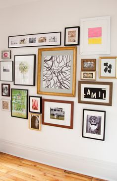 Picture wall-like the mixture of frame colors