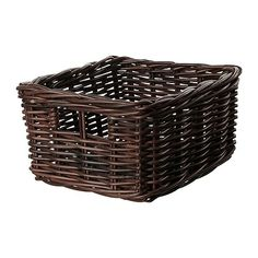 """BYHOLMA Basket - brown, 9 ¾x11 ½x6 """" - IKEA - These would look great in the playroom or in my classroom."""