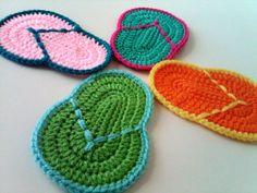 Tropical Flip Flop Coasters