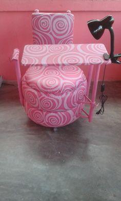 É um máximo essa cadeira pra manicura é pneu sendo reutilizado com criatividade feito por Francieldo contato 999130523