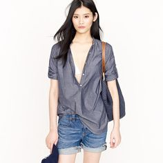 Chambray bayou tunic - i really hope this is grey for early fall football games