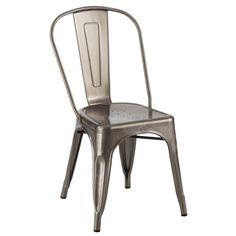 Retro Café Side chair Gunmetal Matte