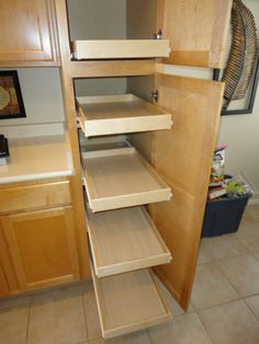 Attaching Pull Out Shelves Onto Pantry Shelves Allows The Shelves To Be  Adjustable Yet Still Slide