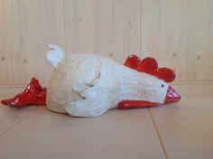 """Legkip"" Paperclay, Clay Animals, Creative Kids, Yard Art, Sculpting, Dinosaur Stuffed Animal, Miniatures, Birds, Watercolor"