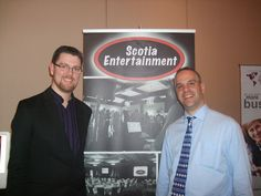 Terry Holdershaw and Jim Pagiamtzis at Business Connections event February 2012