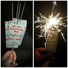 Pregnancy Announcement of July Sparklers Fun Pregnancy Announcement, Thank You Presents, 4th Of July Decorations, Child And Child, Reveal Parties, Sparklers, Gender Reveal, Future Baby, Fourth Of July