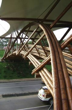 Unusual bamboo and fabric structure offers design advantages - Fabric Architecture