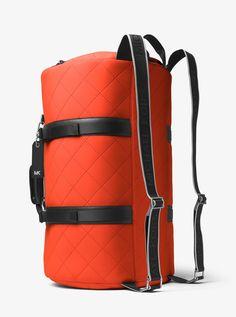 9f9b1b8b4824 Michael Kors Odin Quilted Neoprene Convertible Duffel - Brightorange Duffel  Bag