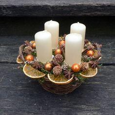 Vánoční svícen pomerančový / Zboží prodejce KYTKA DESIGN | Fler.cz