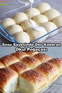 Savory pastries # # # of pasta are Baby Food Recipes, Cooking Recipes, Delicious Desserts, Yummy Food, Savory Pastry, Turkish Recipes, Thanksgiving, Dinner Rolls, Sweet Cakes