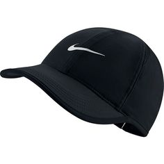 Women's Nike Featherlight Dri-FIT Hat (665 UAH) ❤ liked on Polyvore featuring accessories, hats, grey, gray hat, dri fit hats, sports hats, nike hat and embroidered hats