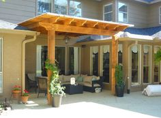 The pergola kits are the easiest and quickest way to build a garden pergola. There are lots of do it yourself pergola kits available to you so that anyone could easily put them together to construct a new structure at their backyard. Vinyl Pergola, Pergola Canopy, Deck With Pergola, Wooden Pergola, Covered Pergola, Backyard Pergola, Pergola Shade, Pergola Plans, Pergola Roof