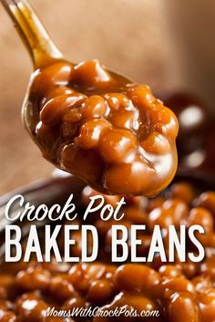 Crockpot Baked Beans Need a great side dish for those grill days? Check out this terrific CrockPot Baked Beans Recipe for your next bbq. These are way better than the can. Baked Beans Crock Pot, Slow Cooker Baked Beans, Baked Beans With Bacon, Crockpot Side Dishes, Crock Pot Slow Cooker, Crock Pot Cooking, Slow Cooker Recipes, Crockpot Recipes, Cooking Recipes