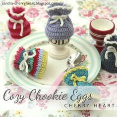 Keep boiled eggs for your weekend brunch warm with these adorable crocheted egg cosies.