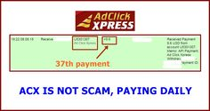 WOWWW Got my 37th payment from AdClickXpress .. :)  Date: 19:22 08.09.15 To Pay Processor Account = U9489027 Amount: 9.6 Currency: USD Batch: 101318649 Memo: API Payment. Ad Click Xpress Withdraw 4406187-136830. Payment ID: 136830     http://www.adclickxpress.com/?r=m5hshz29jwr&p=mx