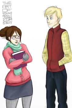 Cath and Levi from FANGIRL by Rainbow Rowell. (they are my new favorite book people) Fangirl Book, Book Fandoms, Book Nerd, Fanfiction, Disney Gender Bender, Stephanie Perkins, Eleanor And Park, Le Book, Favorite Book Quotes