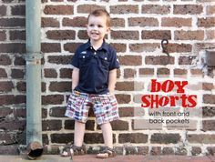 learn how to make these cute boy shorts with pockets with this tutorial
