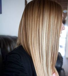 Long Straight Hair Color Blonde Highlights