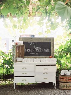 Take home fresh cherries
