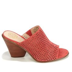 Vince Camuto Devina Perforated Leather Mule - Cashmere